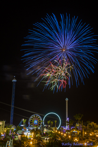 Fireworks, Kemah Boardwalk, Kemah, Texas, Amusement park.