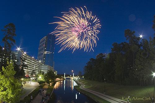 Fireworks over The Woodlands