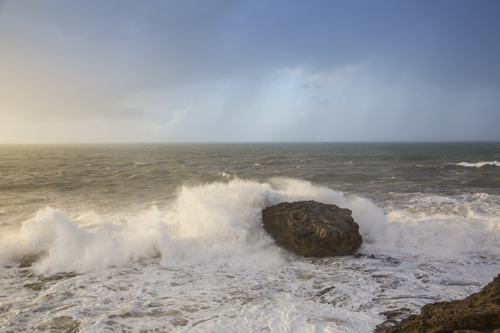 Atlantic Ocean, crashing waves, Essaouira; Morocco