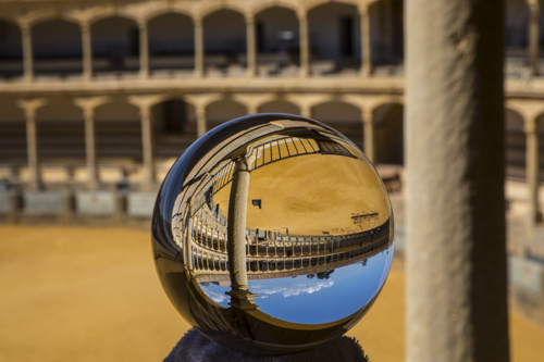 Crystal ball, Ronda, Spain,
