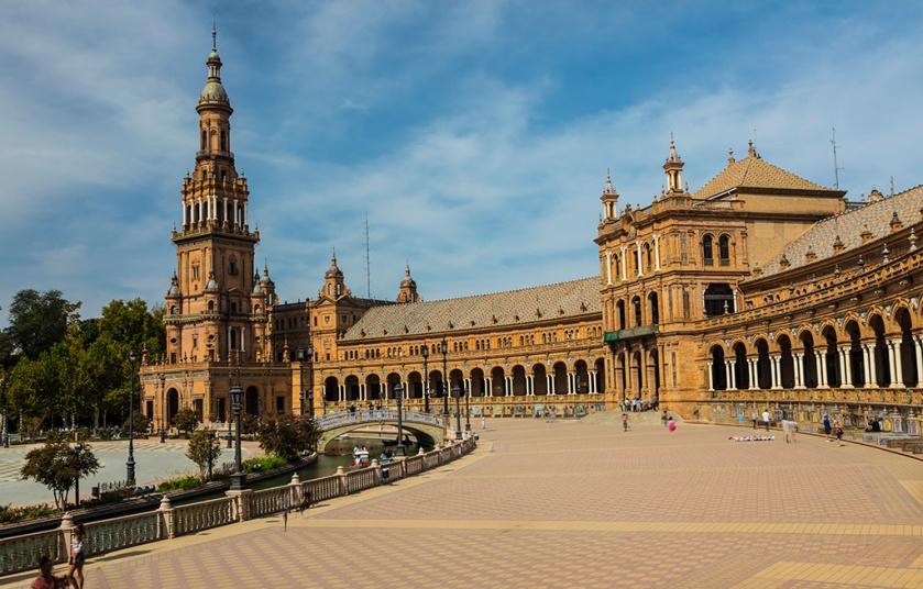 Seville; Spain; Plaza de Espana