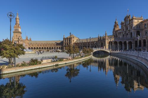 Spain; Seville; Plaza de Espana
