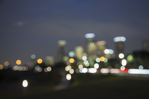 Blurry Houston Skyline KAC0511
