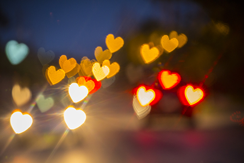 Heart-shaped Lights for Valentine's Day