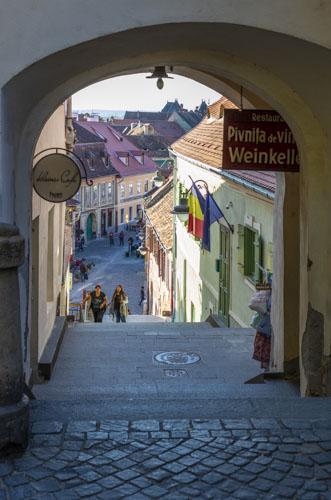 Sibiu, Romania, historic center.